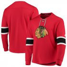 Cheap Chicago Blackhawks adidas Platinum Long Sleeve Jersey T-Shirt Red