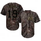 Cheap Marlins #19 Miguel Rojas Camo Realtree Collection Cool Base Stitched Youth MLB Jersey