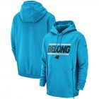 Cheap Carolina Panthers Nike Sideline Local Lockup Performance Pullover Hoodie Blue