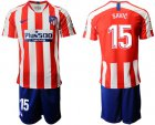 Cheap Atletico Madrid #15 Savic Home Soccer Club Jersey