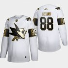 Cheap San Jose Sharks #88 Brent Burns Men's Adidas White Golden Edition Limited Stitched NHL Jersey