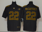 Cheap Men's Carolina Panthers #22 Christian McCaffrey Black 2020 Nike Flocked Leopard Print Vapor Limited NFL Jersey