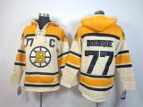 Cheap Bruins #77 Ray Bourque Cream Sawyer Hooded Sweatshirt Stitched NHL Jersey