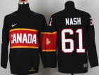 Cheap Team Canada 2014 Olympic #61 Rick Nash Black Stitched Youth NHL Jersey