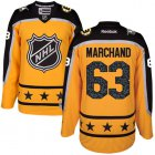 Cheap Bruins #63 Brad Marchand Yellow 2017 All-Star Atlantic Division Women's Stitched NHL Jersey