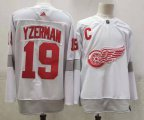 Cheap Men's Detroit Red Wings #19 Steve Yzerman White Adidas 2020-21 Alternate Authentic Player NHL Jersey