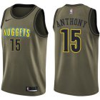 Cheap Nike Denver Nuggets #15 Carmelo Anthony Green Salute to Service NBA Swingman Jersey