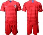 Cheap USA Blank Away Soccer Country Jersey