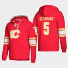 Cheap Calgary Flames #5 Mark Giordano Red adidas Lace-Up Pullover Hoodie