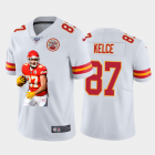 Cheap Kansas City Chiefs #87 Travis Kelce Nike Team Hero Vapor Limited NFL 100 Jersey White Golden