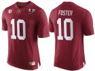 Cheap Men's Alabama Crimson Tide #10 Reuben Foster Red 2017 Championship Game Patch Stitched CFP Nike Limited Jersey
