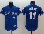 Cheap Blue Jays #11 Kevin Pillar Blue Fashion Stars & Stripes Flexbase Authentic Stitched MLB Jersey