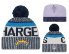 Cheap NFL Los Angeles Chargers Logo Stitched Knit Beanies 011