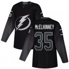 Cheap Adidas Lightning #35 Curtis McElhinney Black Alternate Authentic Stitched NHL Jersey