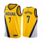 Cheap Nike Pacers #7 Malcolm Brogdon Yellow 2019-20 Statement Edition NBA Jersey