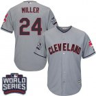 Cheap Indians #24 Andrew Miller Grey Road 2016 World Series Bound Stitched Youth MLB Jersey