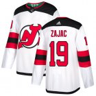 Cheap Adidas Devils #19 Travis Zajac White Road Authentic Stitched Youth NHL Jersey