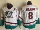 Cheap Ducks #8 Teemu Selanne White CCM Throwback Youth Stitched NHL Jersey