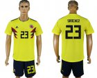 Cheap Colombia #23 Sanchez Home Soccer Country Jersey