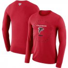 Cheap Atlanta Falcons Nike Property Of Sideline Performance Long Sleeve T-Shirt Red