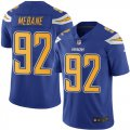 Cheap Nike Chargers #92 Brandon Mebane Electric Blue Men's Stitched NFL Limited Rush Jersey