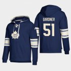 Cheap Toronto Maple Leafs #51 Jake Gardiner Blue adidas Lace-Up Pullover Hoodie