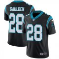 Cheap Nike Panthers #28 Rashaan Gaulden Black Team Color Men's Stitched NFL Vapor Untouchable Limited Jersey