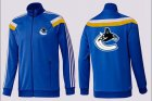 Cheap NHL Vancouver Canucks Zip Jackets Blue-3