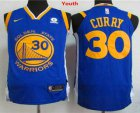 Cheap Youth Golden State Warriors #30 Stephen Curry Royal Blue 2017-2018 Nike Swingman Rakuten Stitched NBA Jersey