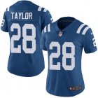 Cheap Nike Colts #28 Jonathan Taylor Royal Blue Team Color Women's Stitched NFL Vapor Untouchable Limited Jersey