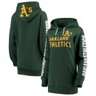 Cheap Oakland Athletics G-III 4Her by Carl Banks Women's Extra Innings Pullover Hoodie Green