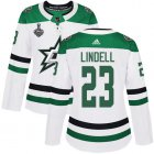 Cheap Adidas Stars #23 Esa Lindell White Road Authentic Women's 2020 Stanley Cup Final Stitched NHL Jersey