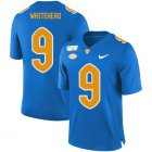 Cheap Pittsburgh Panthers 9 Jordan Whitehead Blue 150th Anniversary Patch Nike College Football Jersey