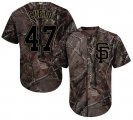 Cheap Giants #47 Johnny Cueto Camo Realtree Collection Cool Base Stitched Youth MLB Jersey