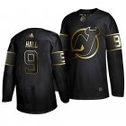 Cheap Adidas Devils #9 Taylor Hall Men's 2019 Black Golden Edition Authentic Stitched NHL Jersey