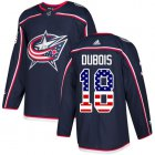 Cheap Adidas Blue Jackets #18 Pierre-Luc Dubois Navy Blue Home Authentic USA Flag Stitched Youth NHL Jersey