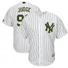 Cheap Yankees #99 Aaron Judge White Strip New Cool Base 2018 Memorial Day Stitched MLB Jersey