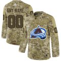 Cheap Men's Adidas Avalanche Personalized Camo Authentic NHL Jersey