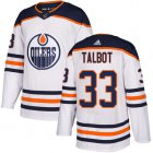 Cheap Adidas Oilers #33 Cam Talbot White Road Authentic Stitched Youth NHL Jersey
