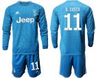 Cheap Juventus #11 D.Costa Third Long Sleeves Soccer Club Jersey
