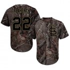 Cheap Cardinals #22 Jack Flaherty Camo Realtree Collection Cool Base Stitched Youth MLB Jersey