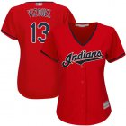 Cheap Indians #13 Omar Vizquel Red Women's Stitched MLB Jersey