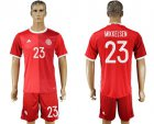 Cheap Danmark #23 Mikkelsen Red Home Soccer Country Jersey