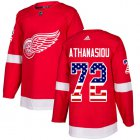Cheap Adidas Red Wings #72 Andreas Athanasiou Red Home Authentic USA Flag Stitched Youth NHL Jersey