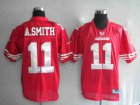Cheap 49ers Alex Smith #11 Stitched Red NFL Jersey