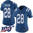 Cheap Nike Colts #28 Jonathan Taylor Royal Blue Team Color Women's Stitched NFL 100th Season Vapor Untouchable Limited Jersey