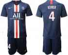 Cheap Paris Saint-Germain #4 Kehrer Home Soccer Club Jersey