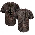 Cheap Rays #4 Blake Snell Camo Realtree Collection Cool Base Stitched Youth MLB Jersey