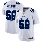 Cheap Indianapolis Colts #56 Quenton Nelson White Men's Nike Team Logo Dual Overlap Limited NFL Jersey