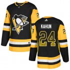 Cheap Adidas Penguins #24 Dominik Kahun Black Home Authentic Drift Fashion Stitched NHL Jersey